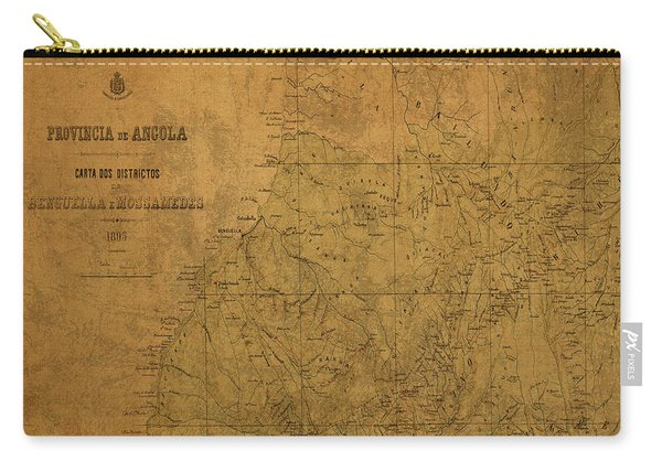 Vintage Map Of Angola Africa 1893 Carry-all Pouch