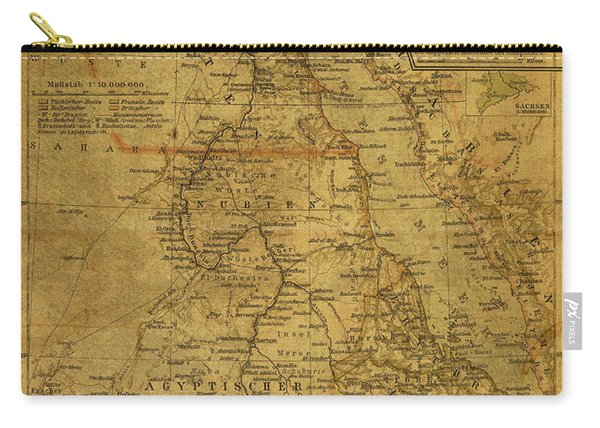 Vintage Map Of Egypt 1902 Carry-all Pouch