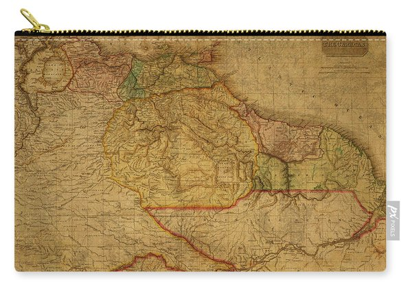 Vintage Map Of Guyana And Eastern South America 1818 Carry-all Pouch
