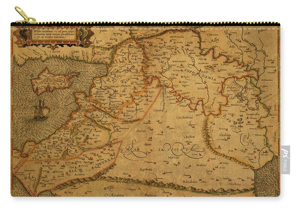 Vintage Map Of Middle East 1584 Carry-all Pouch