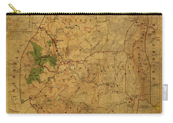 Vintage Map Of Swaziland Africa 1966 Carry-all Pouch