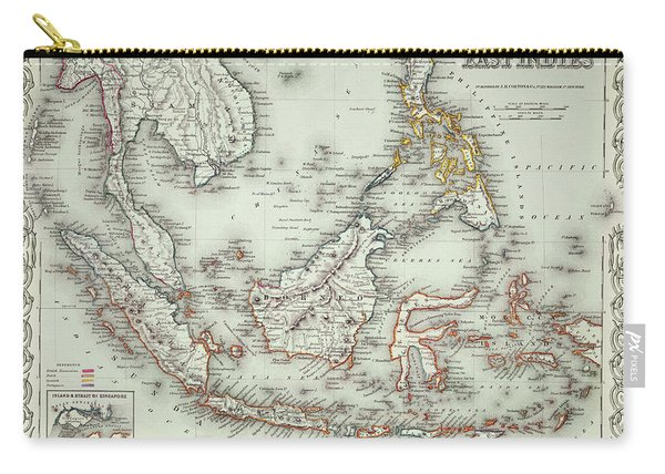 Vintage Map Of The East Indies  Carry-all Pouch