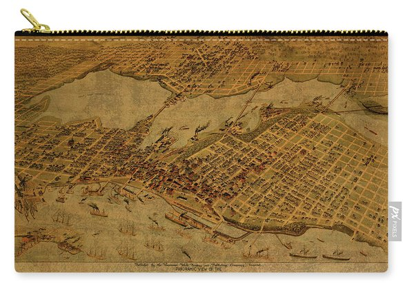 Vintage Map Of Vancouver British Columbia Canada 1898 Carry-all Pouch
