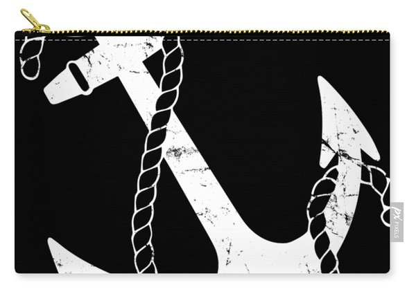 Carry-all Pouch featuring the digital art Vintage Nautical Anchor by Flippin Sweet Gear