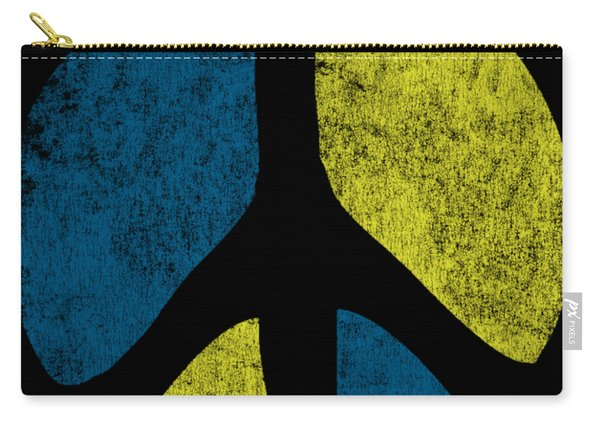 Carry-all Pouch featuring the digital art Vintage Peace Sign by Flippin Sweet Gear