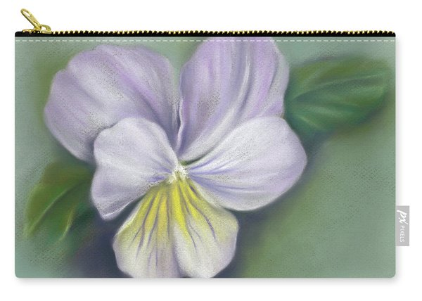 Viola Purple And Yellow Carry-all Pouch