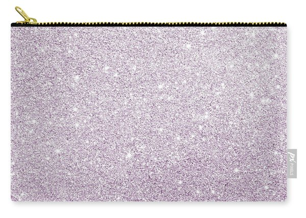 Violet Glitter Carry-all Pouch