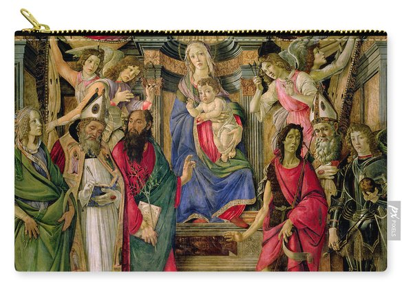 Virgin And Child With Saints From The Altarpiece Of San Barnabas, Carry-all Pouch