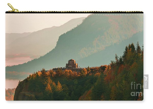 Carry-all Pouch featuring the photograph Vista House by Dheeraj Mutha