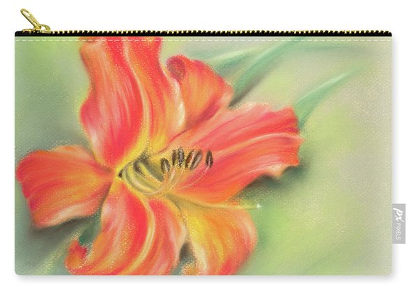 Vivid Orange Daylily Carry-all Pouch