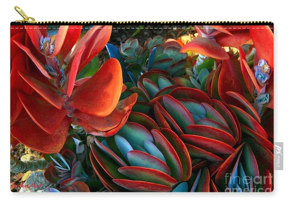 Vivid Paddle-leaf Succulent Carry-all Pouch