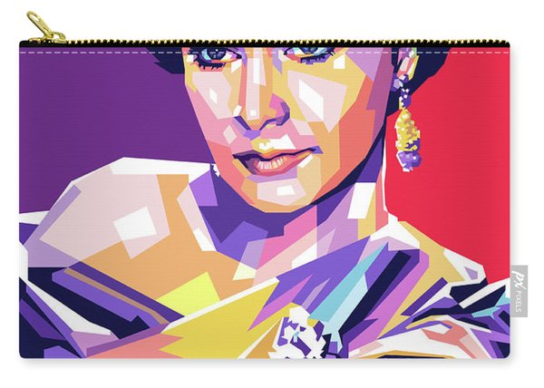 Vivien Leigh Pop Art Carry-all Pouch