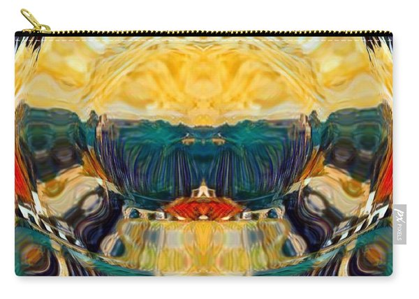 Carry-all Pouch featuring the digital art Volcano 2.0 by A zakaria Mami