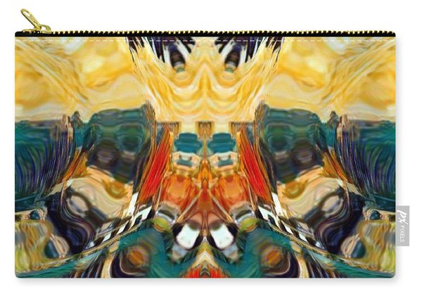 Carry-all Pouch featuring the digital art Volcano by A zakaria Mami