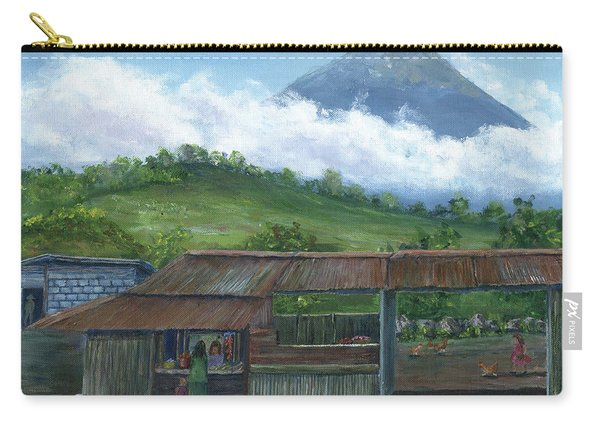 Volcano Agua, Guatemala, With Fruit Stand Carry-all Pouch