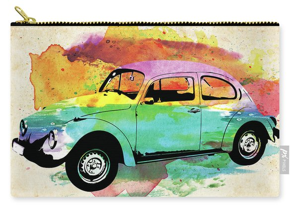 Volkswagen Beetle Old Timer Colorful Watercolor Carry-all Pouch