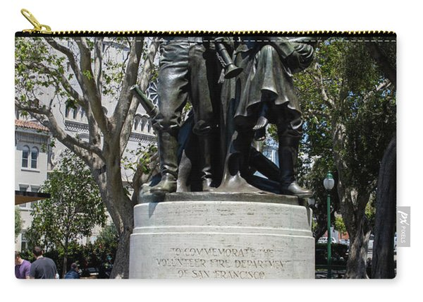 Volunteer Fire Department Of San Francisco 1849 To 1866 Statue At Washington Park San Francisco R679 Carry-all Pouch