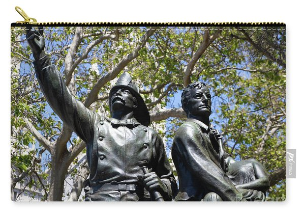 Volunteer Fire Department Of San Francisco 1849 To 1866 Statue At Washington Park San Francisco R681 Carry-all Pouch