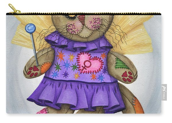 Voodoo Empress Fairy Cat Doll - Patchwork Cat Carry-all Pouch