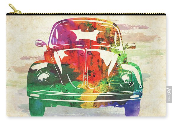 Vw Old Beetle Colorful Watercolor Carry-all Pouch