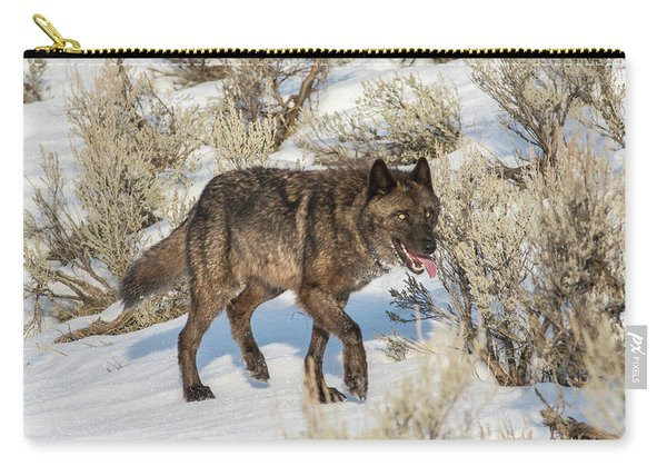 Carry-all Pouch featuring the photograph W28 by Joshua Able's Wildlife