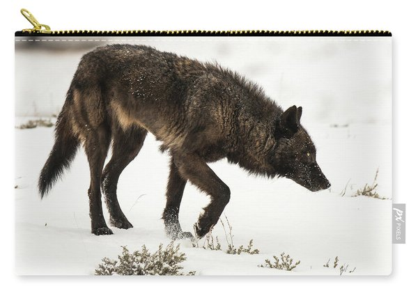 Carry-all Pouch featuring the photograph W47 by Joshua Able's Wildlife