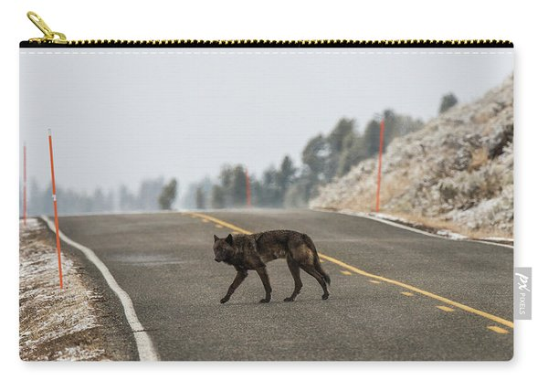 Carry-all Pouch featuring the photograph W55 by Joshua Able's Wildlife