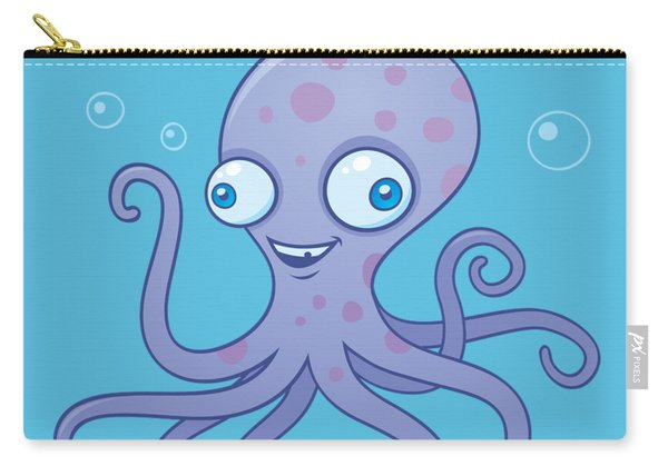 Wacky Octopus Carry-all Pouch