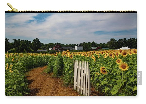 Walk Through The Sunflowers Carry-all Pouch