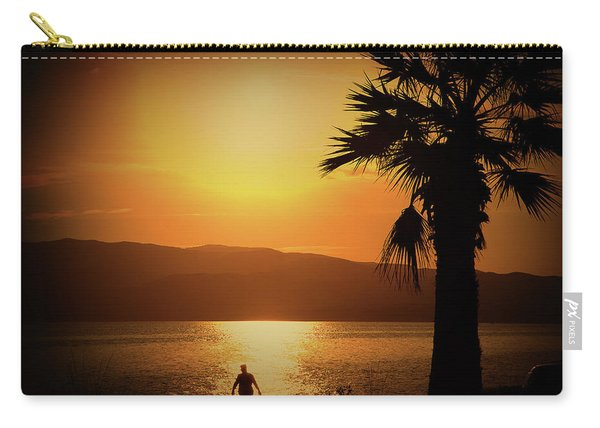 Walking Down The Beach Carry-all Pouch