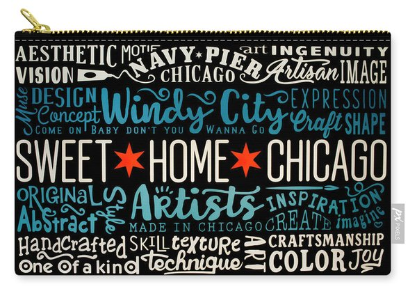Wall Art Chicago Carry-all Pouch