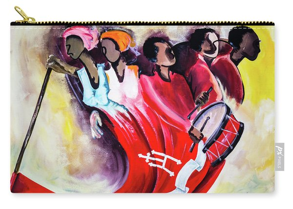 Wall Painting In Fogo, Cape Verde Carry-all Pouch