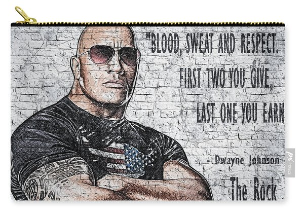 Wallart Dwayne Johnson 4 Carry-all Pouch