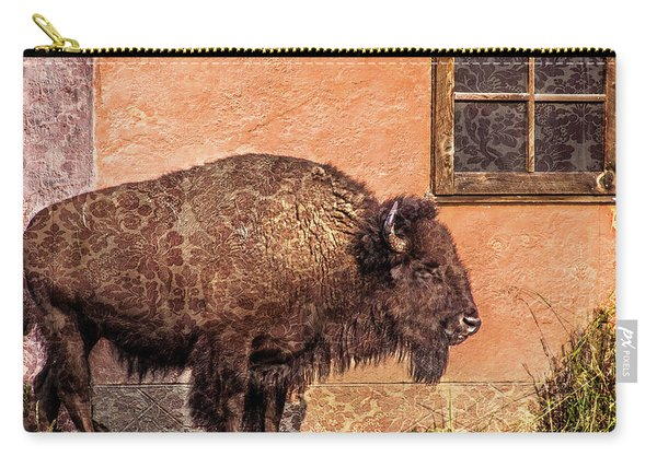 Wallpaper Bison Carry-all Pouch