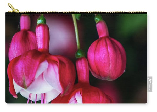 Carry-all Pouch featuring the photograph Wallpaper Flower by Dheeraj Mutha