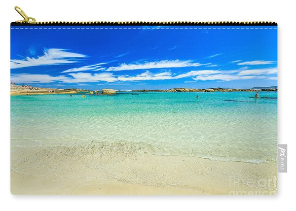 Carry-all Pouch featuring the photograph Wallpaper Sea Background by Benny Marty