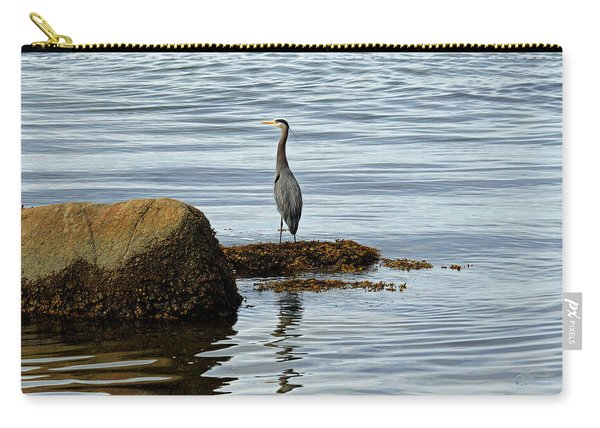 Wary Heron Carry-all Pouch