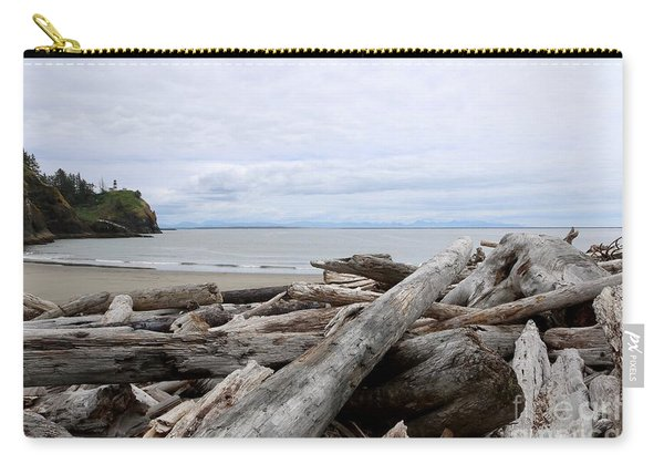 Washington Coastline With Driftwood Carry-all Pouch