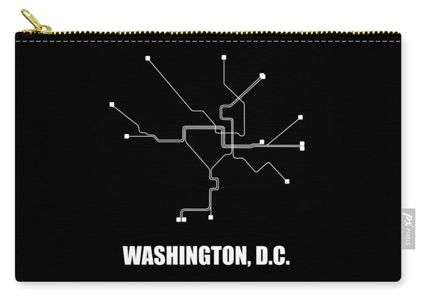 Washington, D.c. Square Subway Map Carry-all Pouch