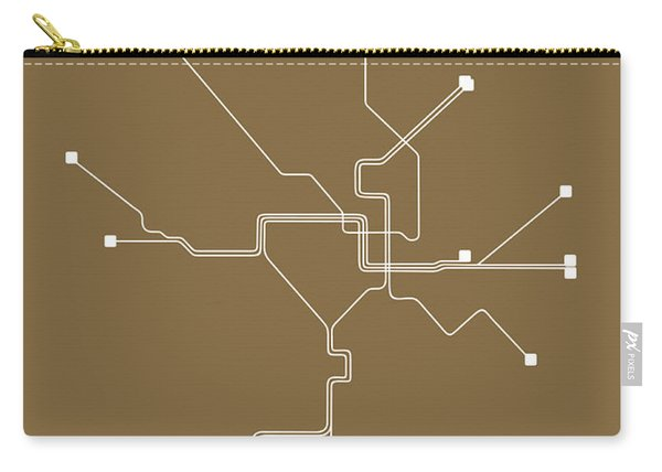 Washington, D.c. Subway Map 2 Carry-all Pouch