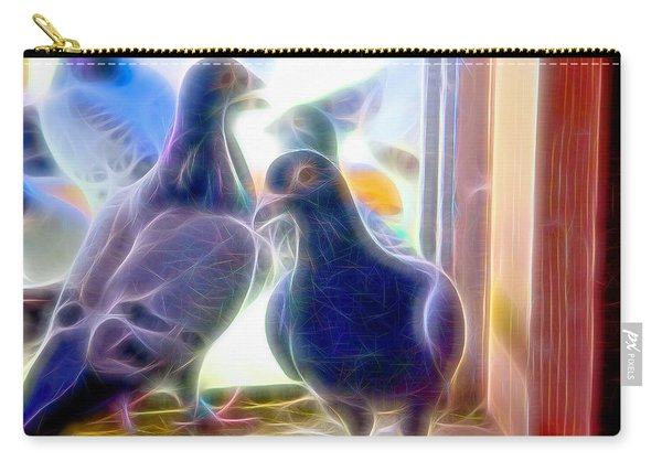 Carry-all Pouch featuring the photograph Watchful Homing Pigeons Fibers by Don Northup