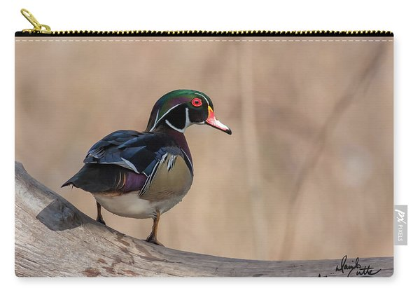 Watchful Wood Duck Carry-all Pouch