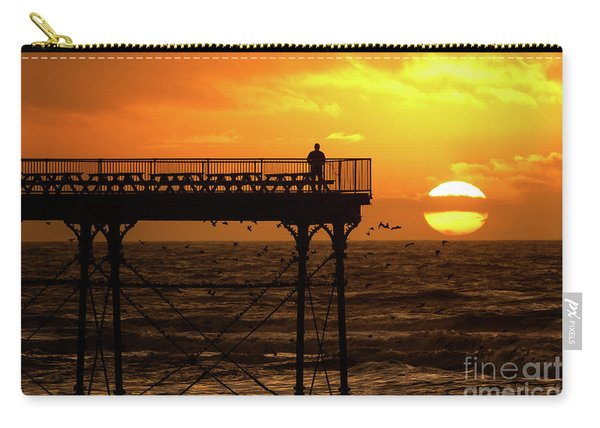 Watching The Sunset From Aberystwyth Pier Carry-all Pouch