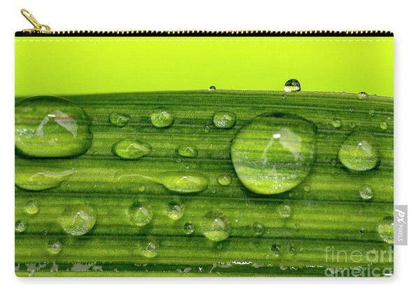Water Drops On Leaf Carry-all Pouch