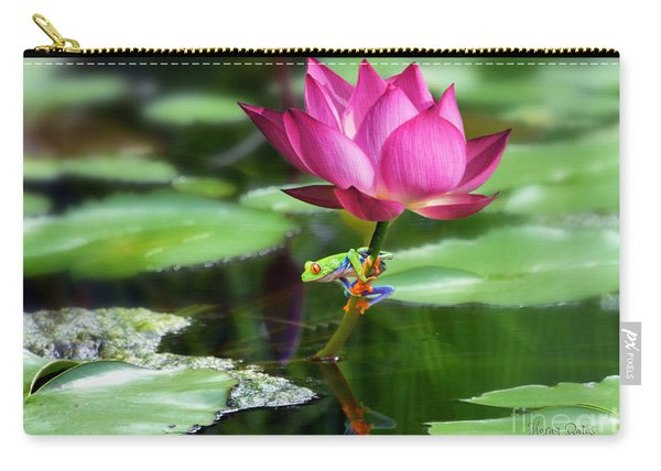 Water Lily And Little Frog Carry-all Pouch