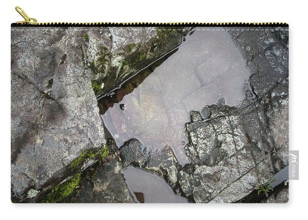 Carry-all Pouch featuring the photograph Water On The Rocks 2 by Juan Contreras