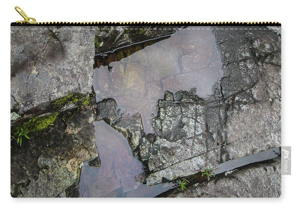 Carry-all Pouch featuring the photograph Water On The Rocks 3 by Juan Contreras