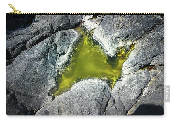 Carry-all Pouch featuring the photograph Water On The Rocks 5 by Juan Contreras