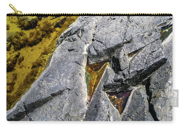 Carry-all Pouch featuring the photograph Water On The Rocks 8 by Juan Contreras