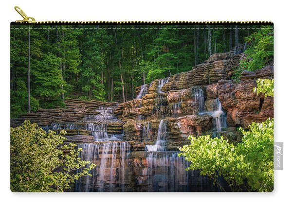 Carry-all Pouch featuring the photograph Waterfall At Top Of The Rock by Allin Sorenson